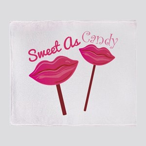 Sweet As Candy Throw Blanket